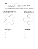 Multiplication and Division Key Words Graphic Organizer