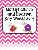 Multiplication and Division Key Words Sort