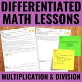 Multiplication and Division Lessons for Guided Math | 2020