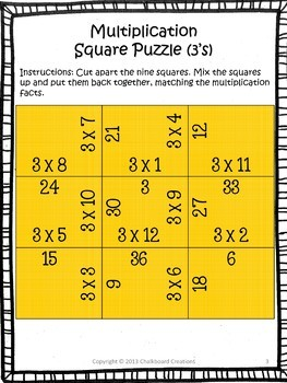 Multiplication and Division Madness Bundle: Square Puzzles for Basic Facts