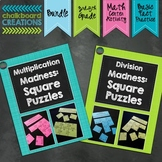 Multiplication & Division Madness Bundle: Square Puzzles f