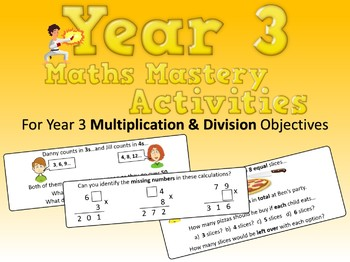 Multiplication and Division Mastery Activities – Year 3