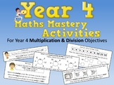 Multiplication and Division Mastery Activities – Year 4
