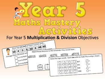 Multiplication and Division Mastery Activities – Year 5