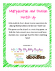 Multiplication and Division Match Up