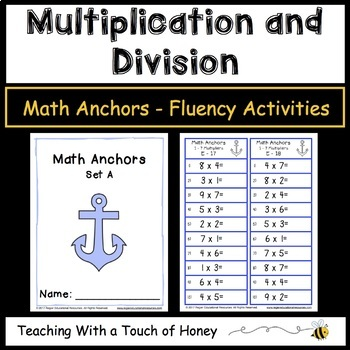 Multiplication and Division Math Anchors