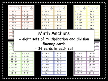 Multiplication and Division | Math Facts | Math Fluency | Early Finishers
