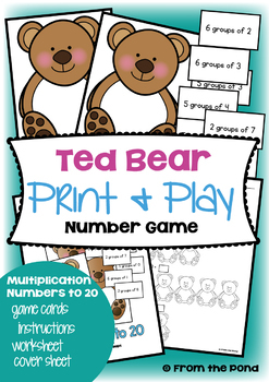 Multiplication Games Pack - 4 Fun Print and Play Game Centers