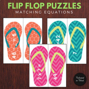 Multiplication and Division Math Center - Summer Theme