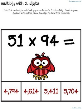 Multiplication and Division Math Clip Center