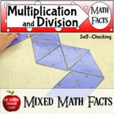 Multiplication and Division Math Facts Self Checking Center Activity