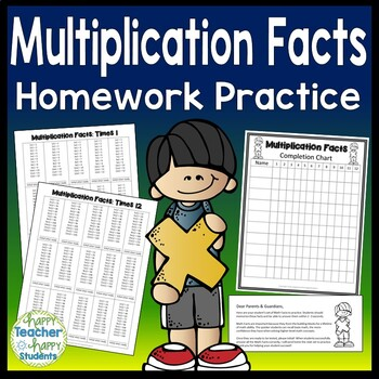 Multiplication Facts: Multiplication Homework Practice for x1 thru x12