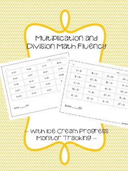 Multiplication and Division Math Fluency