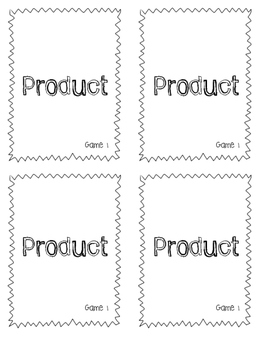 Multiplication and Division Math Game Task Cards