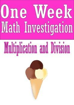 Multiplication and Division Math Investigation Ice Cream