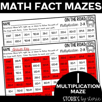 Multiplication and Division Math Maze Sample