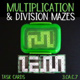 Multiplication and Division Task Card Mazes (3.OA.C.7 AND 3.OA.D.8)