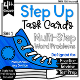 Multiplication and Division Math Multi-Step Word Problems Task Cards 4.NBT
