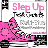 Multiplication and Division Math Multi-Step Word Problems Task Cards 4.OA.2
