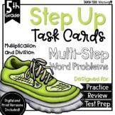 Multiplication Division Math Multi-Step Word Problem Task Cards GOOGLE CLASSROOM