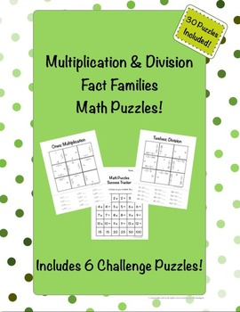 Multiplication and Division Math Puzzles! {30 Puzzles}