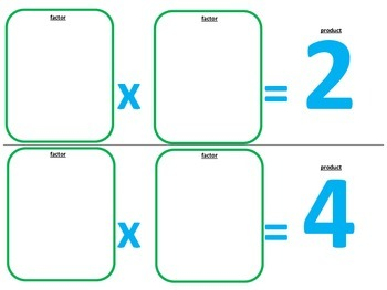 Multiplication and Division Math Station Games