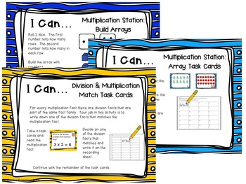 Multiplication and Division Math Stations: August Edition