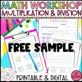 Multiplication and Division Guided Math Workshop Sampler P
