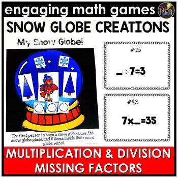 Multiplication and Division Missing Factors Game