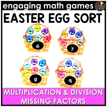 Easter Math Game - Multiplication and Division Missing Factors