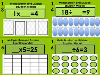 Multiplication and Division Model Number Sentence Task Cards