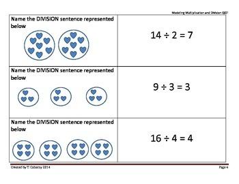 Multiplication and Division Model Quiz-Quiz-Trade Task Cards