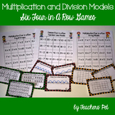Multiplication and Division Models: 6 Four in a Row Games