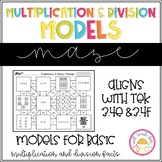 Multiplication and Division Models Maze 3.4E 3.4F