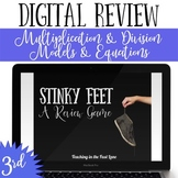 Multiplication and Division Models and Equations Review Game Stinky Feet