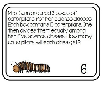 Multiplication and Division Task Cards - Multi-Step for 3rd Grade