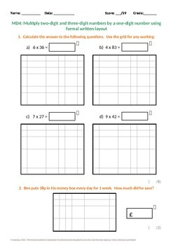 Multiplication and Division: Multiply 2 and 3 Digit Numbers
