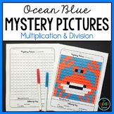 Mystery Pictures Ocean - Multiplication and Division Facts