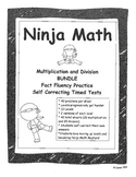 Multiplication and Division Ninja Math BUNDLE!  Fact Fluency TImed Tests