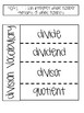 Multiplication and Division Notebooking Activities