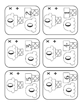 Multiplication and Division Number Bond Flashcards - Part Part Whole Method