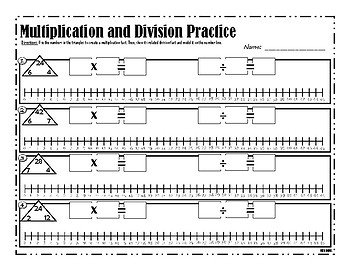Multiplication and Division Number Line Practice