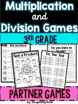 Multiplication and Division PARTNER Games - NO Prep, Print and GO