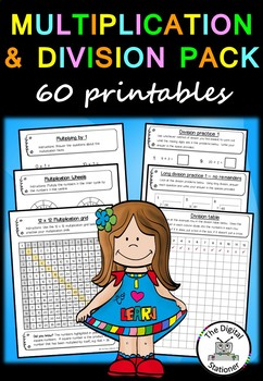 Multiplication and Division Pack – 70+ worksheets/printables