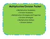Multiplication and Division Packet Common Core Aligned