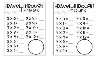 Multiplication and Division Passport BUNDLE