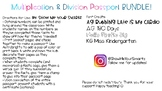 Multiplication and Division Passport BUNDLE