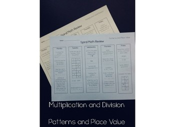 Multiplication and Division, Patterns and Place Value