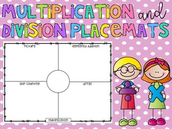 Multiplication and Division Placemat