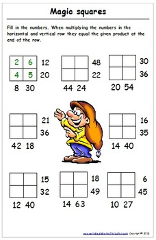 Multiplication and Division - Playtime Worksheets (with brain teasers)